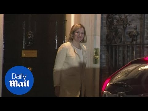 Amber Rudd leaves Downing Street after returning to cabinet