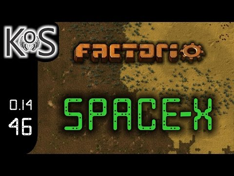 Factorio 0.14 Space-X Mod, Ep 46: Red Circuit Buff - Let's Play, Gameplay