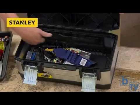 XMS14TOOLBOX Stanley Galvanised 20in Metal Tool Box STA195618