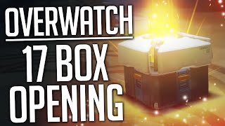 Overwatch Box Opening - 17 BOXES!