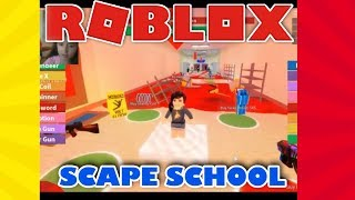 OBBY ROBLOX ESCAPE SCHOOL ( video game )....! [ part 1 ] fun game...