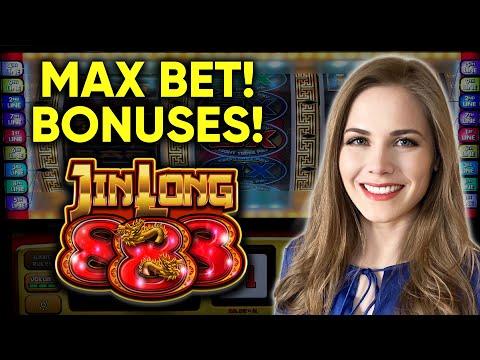 Lots Of BONUSES! Jin Long 888 Slot Machine! $9 Max Bet!!