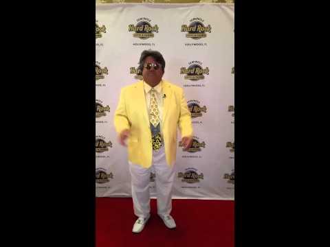 Ed Shipek on the Red Carpet Hard Rock Casino
