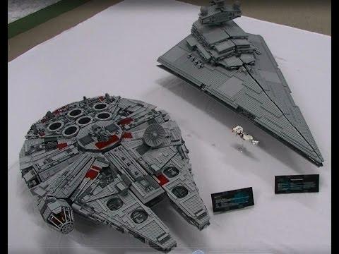 Lego UCS Millennium Falcon 10179 V's Imperial Star Destroyer 10030 ...