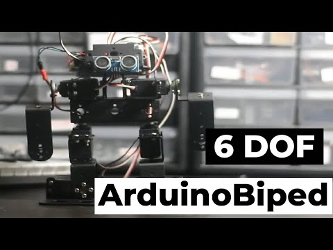 Arduino Biped Walking Servo Motor Robot w/ Code