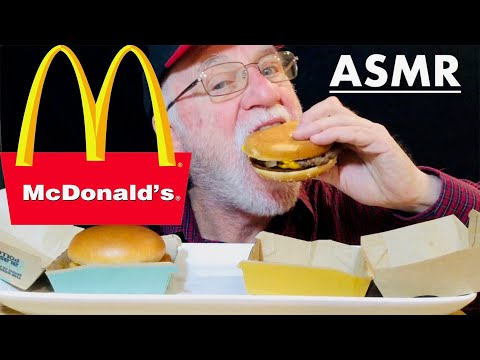ASMR Eating MCDONALD'S Quarter POUNDER With CHEESE And FISH FILET It's All Good ASMR