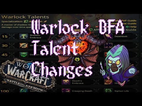 Battle for Azeroth Warlock Talent changes (data mined 1/25/18)