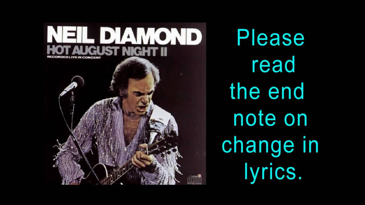 I Dreamed A Dream From Les Miserables Neil Diamond Hot August Night 1987 Youtube