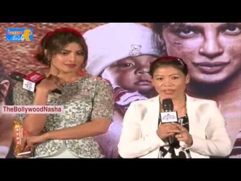 Priyanka Chopa & Mary Kom emotional - funny speech @ Mary Com Movie Promotion