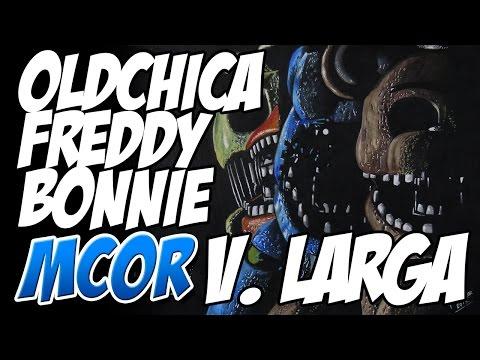 Como Dibujar a Old Freddy, Old Bonnie y Old Chica - FNAF2 | Versión Larga