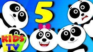 kids tv nursery rhymes five little pandas   nursery rhymes for children   kids tv original songs