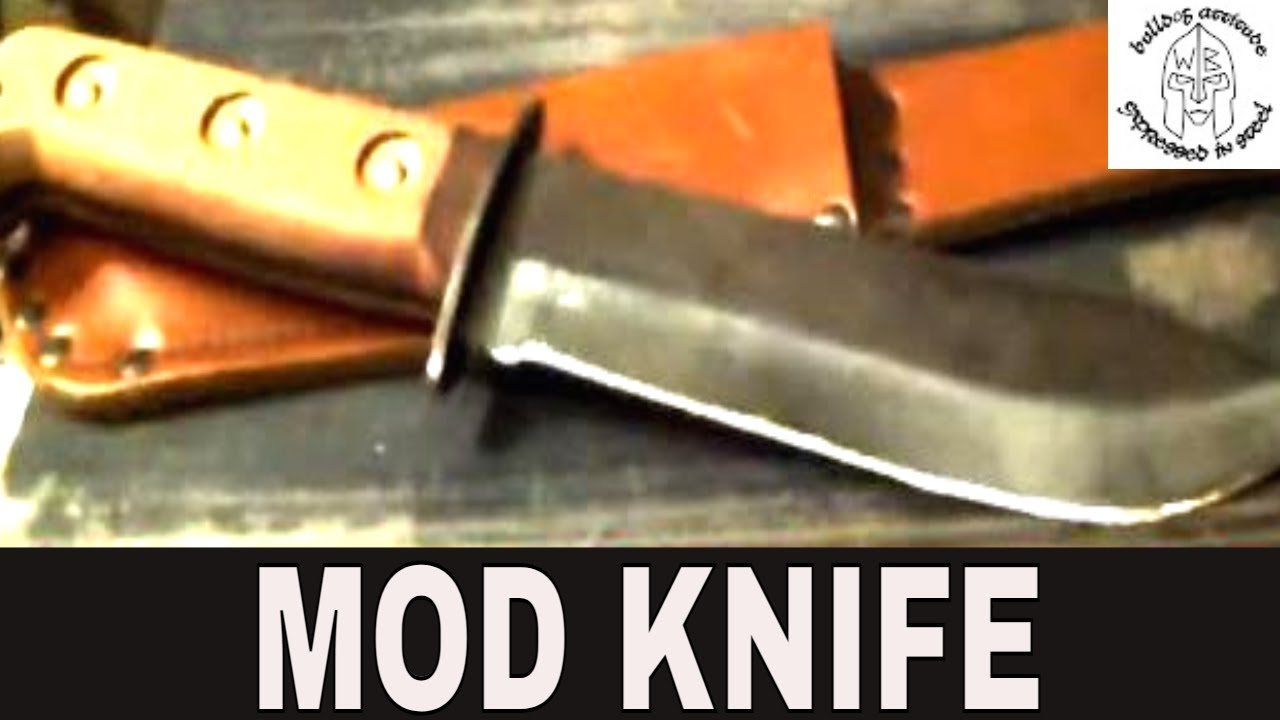 British Army Survival Knife Modification Youtube