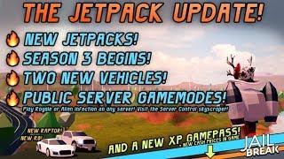 ROBLOX JAILBREAK NEUE UPDATE JETPACK & R8 & RAPTOR