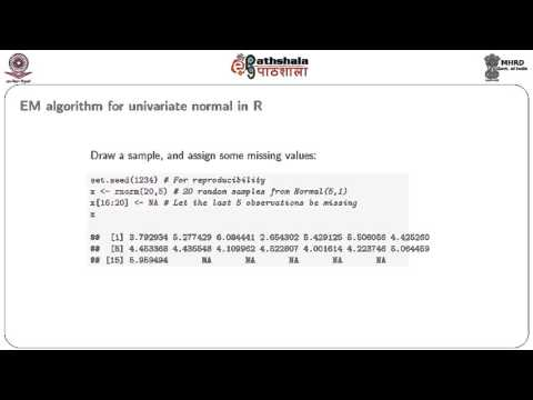 The Expectation MAximisation (EM) Algorithm in R