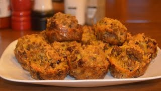 How To Make Sausage Stuffing Muffins - Awesome Brunch Dish - From Shelly Of Alabama