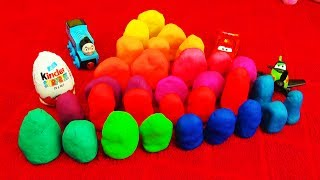 play doh 30 surprise eggs playdough peppa pig toy story disney pixar cars toys angry birds ice cream