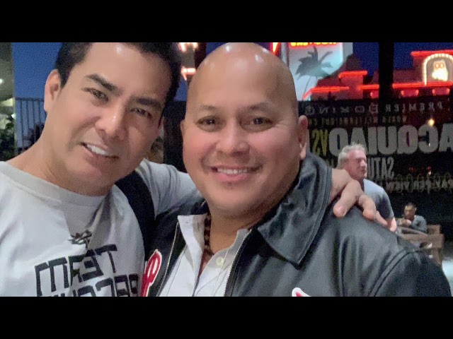 John Melo meets Senator Bato Dela Rosa