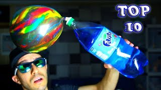TOP 10 BEST SODA TRICKS AND SCIENCE EXPERIMENTS(FUN AND EASY TO DO!!)