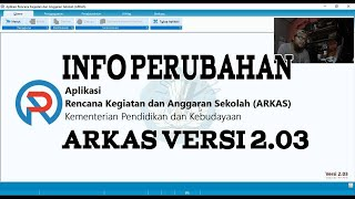 Info Perubahan Arkas versi 2.03 | Jika kertas kerja di warna biru dongker