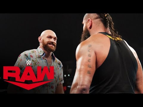 Tyson Fury threatens to knock out Braun Strowman: Raw, Oct. 14, 2019
