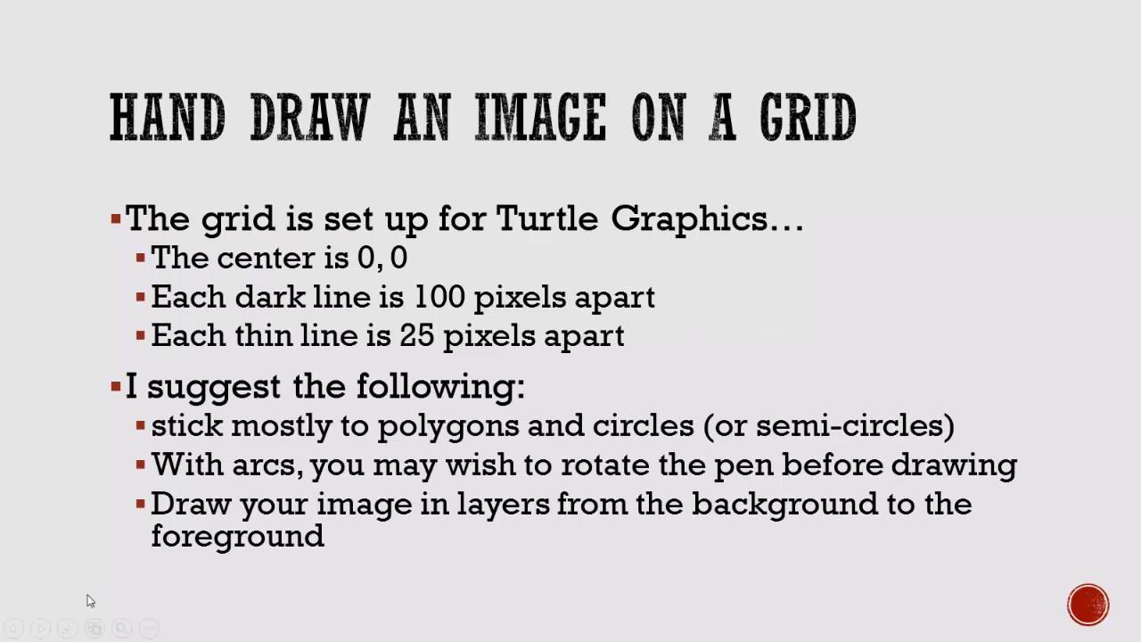 Tips for Drawing Python Turtle Graphics