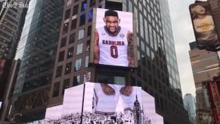 Gamecocks featured in Times Square Video Boards