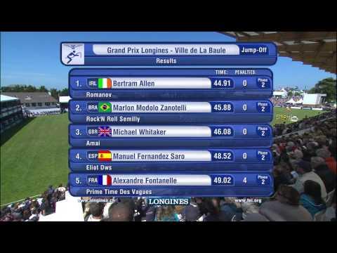 LA BAULE 2015- Le barrage du Grand Prix Longines