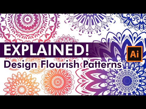 How To Design Flourish Patterns - Adobe Illustrator Tutorial