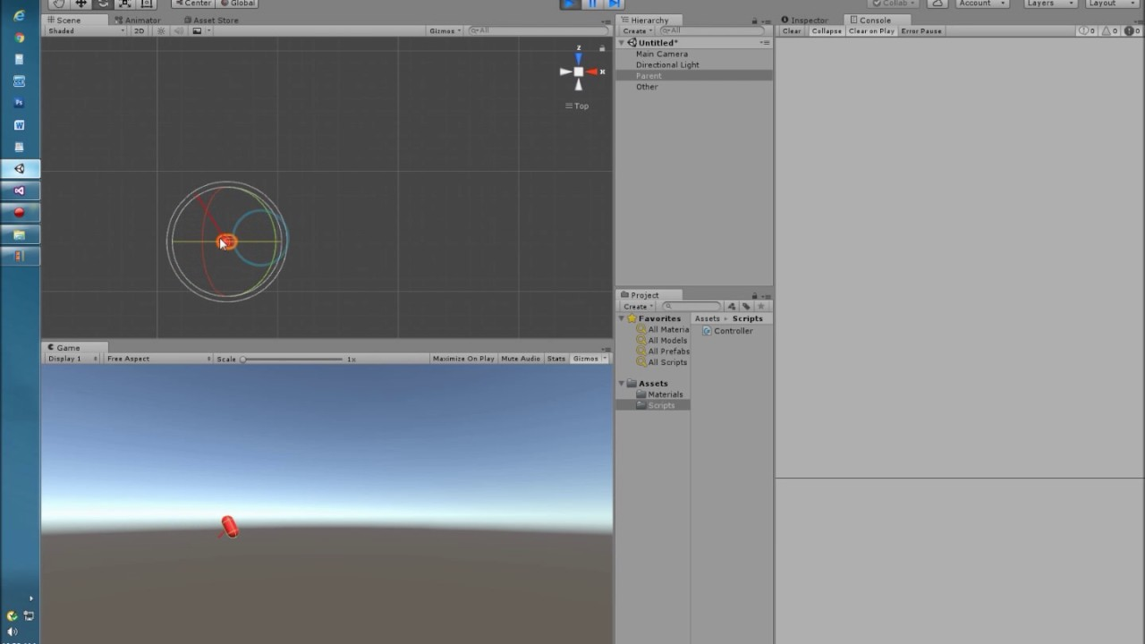 Unity transform Rotate in local and world space