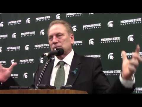 Tom Izzo after beating Illinois and winning the B1G title!