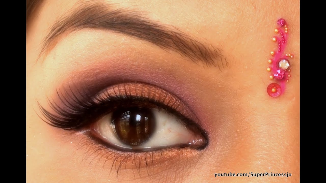 Wedding Eye Makeup Pink : Indian Wedding makeup Tutorial Pink Purple Bronze Eye ...