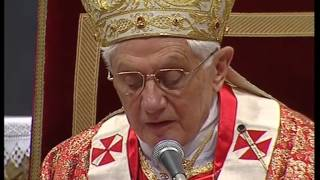 Pope Benedict XVI Pentecoste mass 23 05 2010