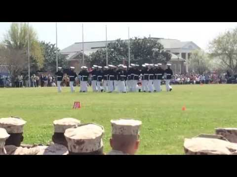 Marine Corps Silent Drill Team Performs with the Commandant's Own Pensacola FL 2015