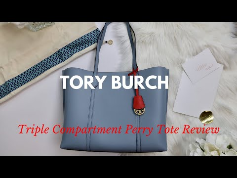 Tory Burch New Triple Compartment Perry Tote Review