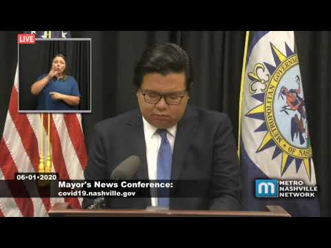 Mayor John Cooper Holds A Press Conference