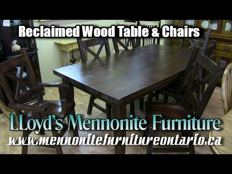 Kitchen Table & Chairs, manufactured from reclaimed wood, Reclaimed Wood Furniture Toronto Ontario.