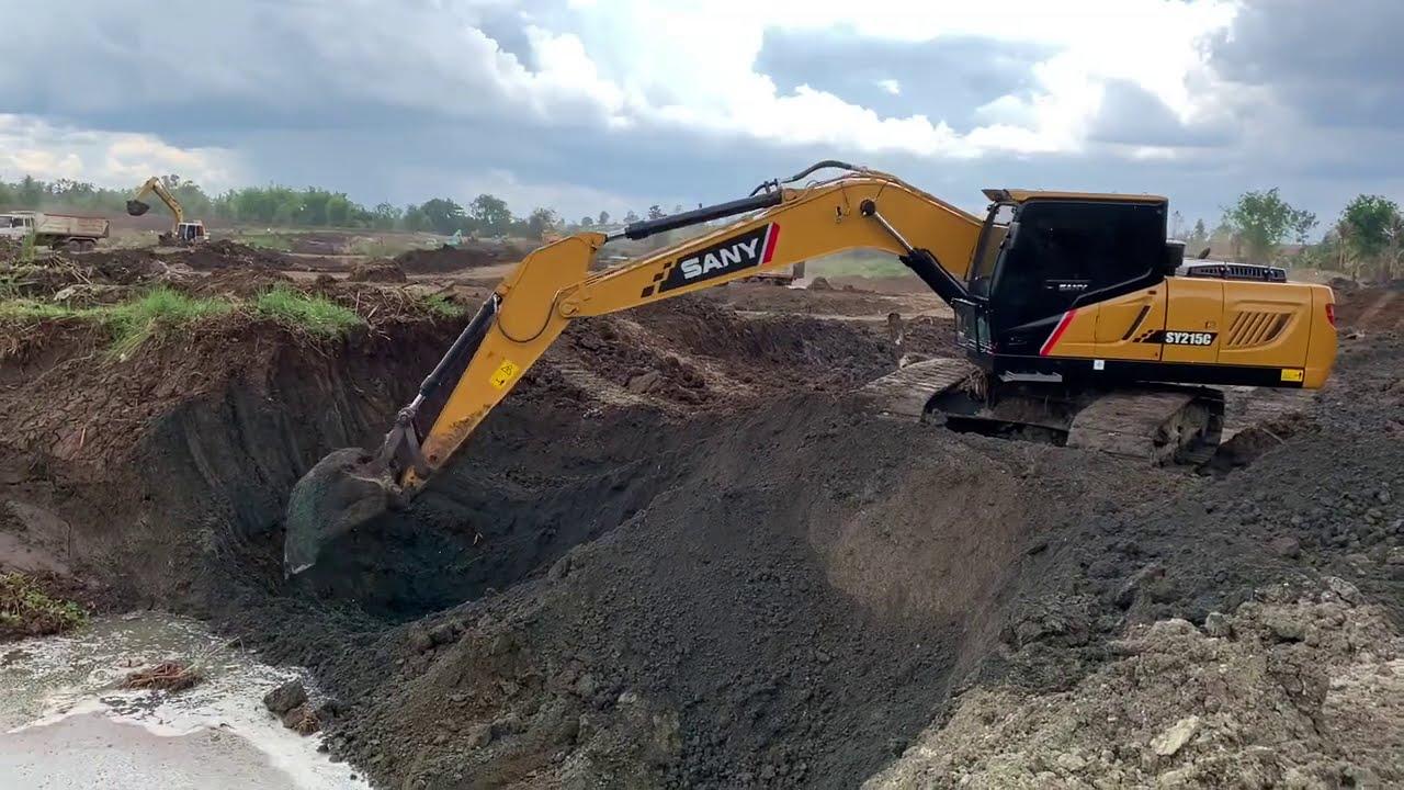 รถแม็คโครตักดิน รถขุดตีนตะขาบ  SANY  SY215C Excavator