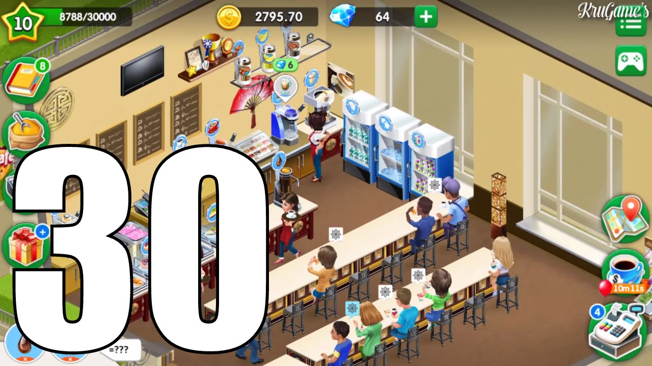 My Cafe: Recipes & Stories Android Gameplay #30 - Level 10 - Unlock Ice  Cream Latte
