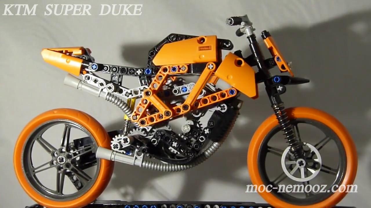 ktm super duke lego technic motorcycle youtube. Black Bedroom Furniture Sets. Home Design Ideas