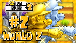 New Super Mario Bros. 2 - World 2 (1/2) (2 Player) 100%