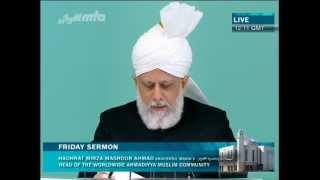 Sermon du Vendredi 27-07-2012 - Islam Ahmadiyya