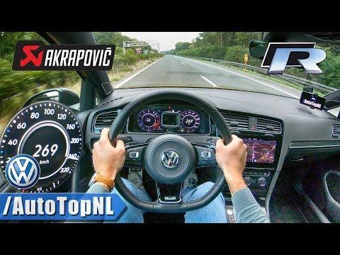 VW Golf R 2019 AKRAPOVIC Autobahn POV TOP SPEED 269km/h By AutoTopNL