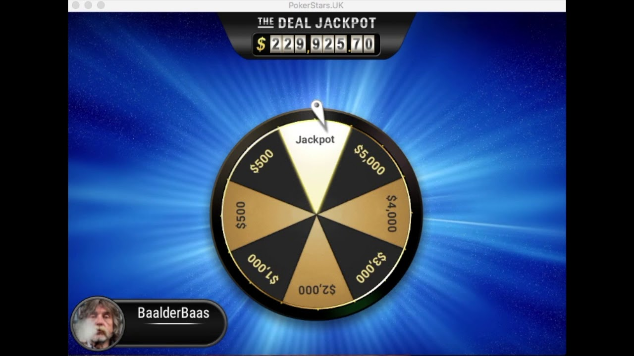 The Deal Jackpot Pokerstars