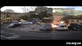 Поджог автомобиля. Передвижение поджигателя
