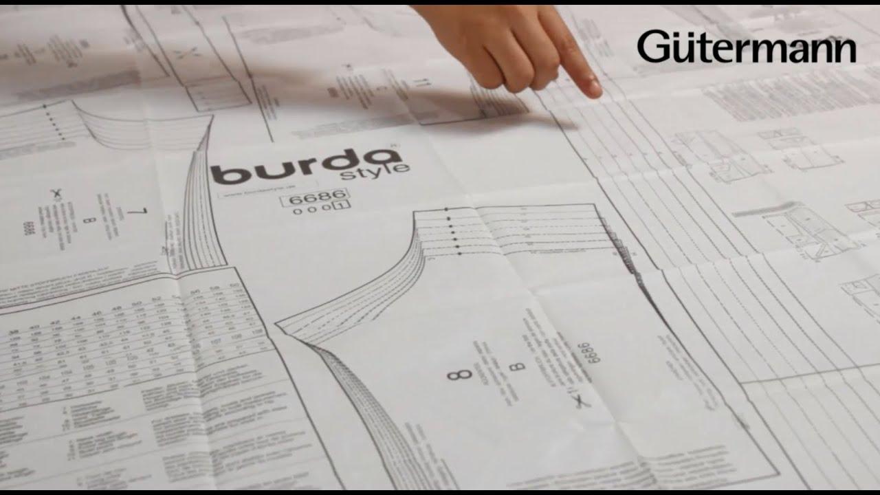 Cómo confeccionar con patrones Burda Style - YouTube