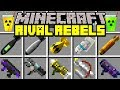 Minecraft RIVAL REBELS MOD! | ANTI-GRAVITY BOMB, NUKES, OVERPOWERED WEAPONS! | Modded Mini-Game