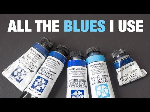The Blues I Use: Phthalo Ultramarine Prussian Cobalt Cerulean