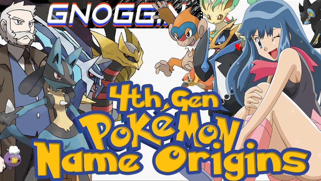 pokemon name origins 4th gen gnoggin youtube. Black Bedroom Furniture Sets. Home Design Ideas