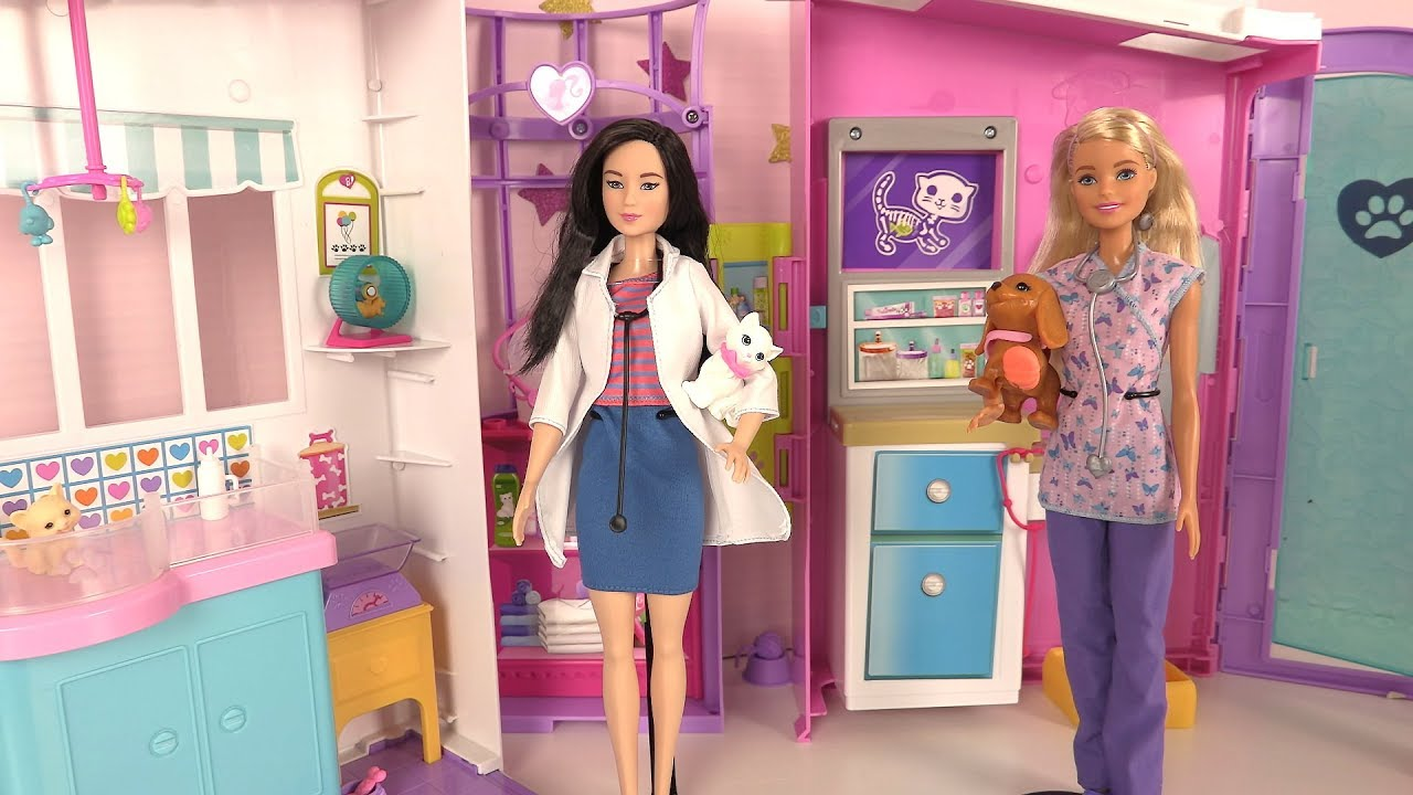 Barbie clinique v t rinaire chiens chats pet care center - Barbie veterinaire ...