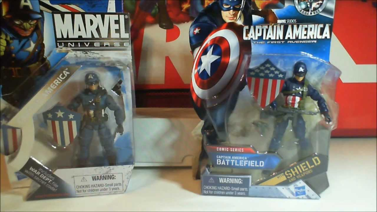 Hasbro Toys Captain America Movie 4 Inch Series 1 Action Figure Battlefield Captain Ameri..